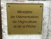 Image de la plaque à l'entrée du ministère de l'Alimentation, de l'Agriculture et de la Pêche
