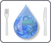 icône viande.info représentant le gaspillage et la pollution de l'eau imputées à l'élevage