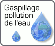 Gaspillage, pollution de l'eau