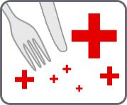 icône viande.info représentant les risques pour la santé imputées à l'élevage